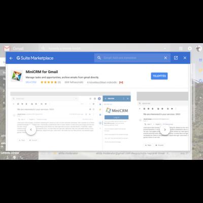 MiniCRM - Gmail bővítmény (app) telepítési útmutató
