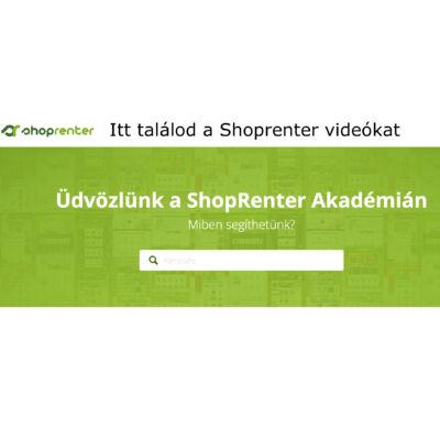 Itt találod a Shoprenter admin felület oktató videókat