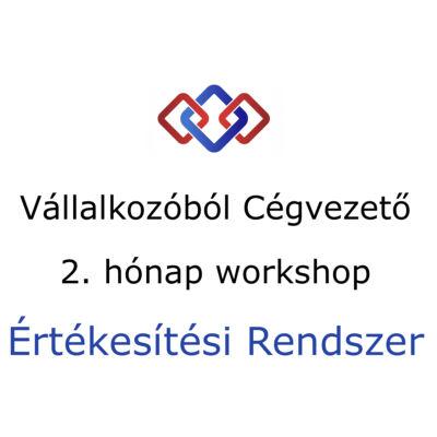 Vállalkozóból Cégvezető program - 2. hónap workshop, Értékesítési Rendszer